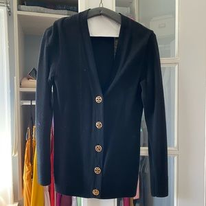 Tory Burch Simone Cardigan Black size small